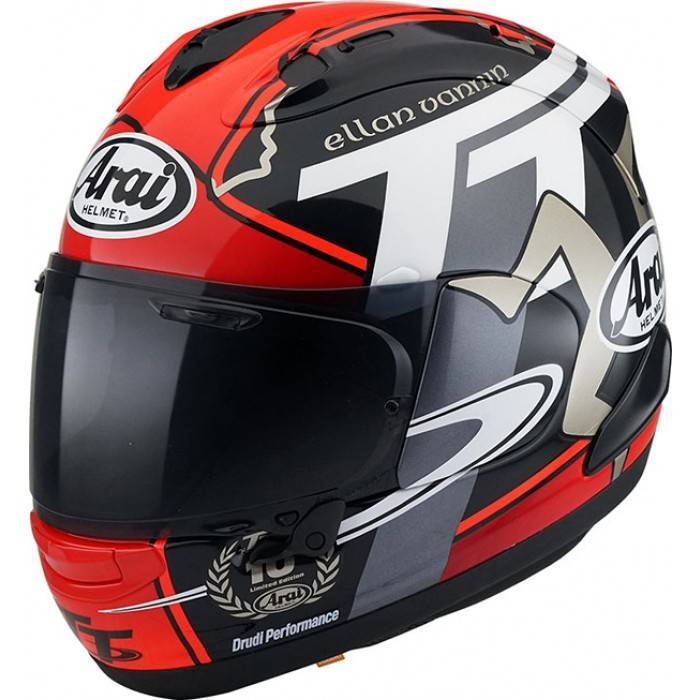 1f94246ae1547 arai rx7-v isle of man integral helmet + rainbow and smoke visor ...